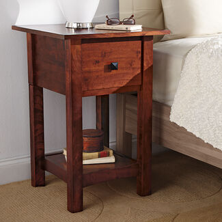 Home Defense Night Stand with Hidden Firearm Safe